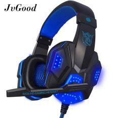 ขาย Jvgood ชุดหูฟังเกมสำหรับเล่นเกมแบบมีสายหูฟังกีฬาพร้อมไมโครโฟนสำหรับพีซี I โทรศัพท์ I เบาะสมาร์ทโฟนโทรศัพท์ Android สีฟ้า ถูก