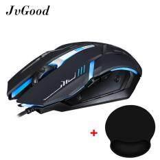 ซื้อ Jvgood Usb Gaming Mouse Optical Wired Game Mice And Mouse Wrist Rest Mice Pad For Notebook Pc Laptop Computer Macbook ใน จีน