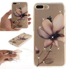 Jwmall Case For Iphone 7 Plus Fashion Ultra Thin Pattern Painting Transparent Clear Soft Tpu Magnolia Flower Intl จีน