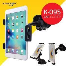 ขาย Kakudos Car Holder ที่วางแท็บเล็ต โทรศัพท์ มือถือ ในรถยนต์ รุ่น K 095 สีดำ ไทย ถูก