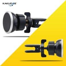 ราคา Kakudos ที่วางโทรศัพท์ในรถ ที่ยึดโทรศัพท์ในรถ แท่นวางโทรศัพท์แบบแม่เหล็ก ที่วางโทรศัพท์มือถือในรถยนต์เสียบช่องแอร์ Car Holder K 103 Black สีดำ ใหม่