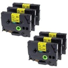 ขาย Kenight 6 Pack Tze 631 Label Tape Compatible For Brother P Touch Machines Standard Laminated Adhesive Cassette Tz631 Black Print On Yellow 12Mm X 8M Intl ผู้ค้าส่ง