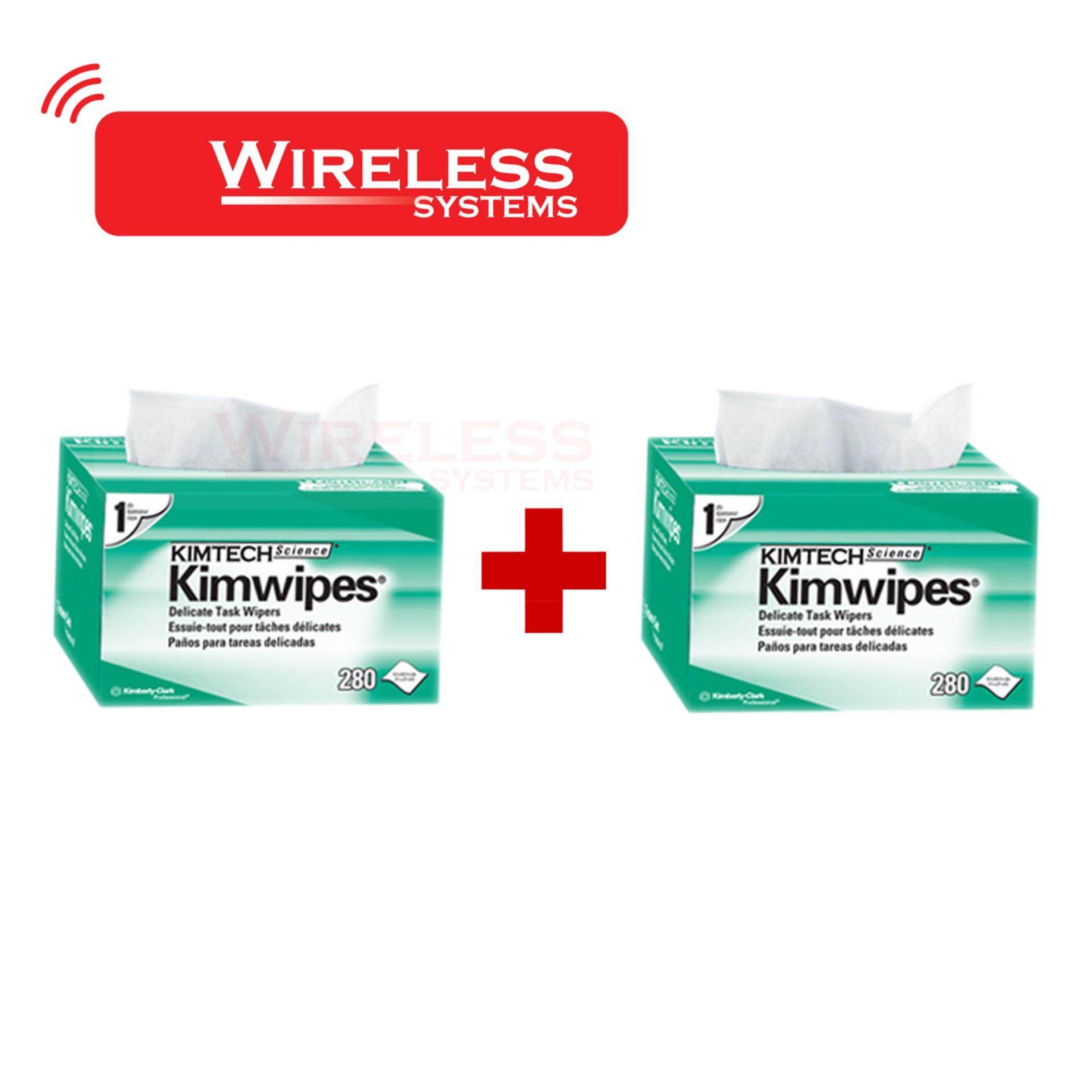KIMTECH SCIENCE  KIMWIPES  Delicate Task Wipers พิเศษ Pack คู่ 2 กล่อง