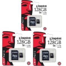 Kingston Kingston Memory Card Micro SD SDHC 128 GB Class 10 คิงส์ตัน เมมโมรี่การ์ด 128 GB  3ชิ้น