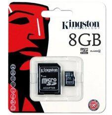 Kingston Memory Card เมมโมรี่การ์ด Micro Sd 8 Gb Class 4 With Adapter เป็นต้นฉบับ
