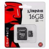 ราคา Kingston Memory Card เมมโมรี่การ์ด Micro Sd 16Gb 1ชิ้น Class10 เป็นต้นฉบับ
