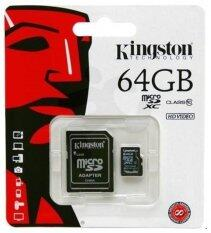 Kingston 64GB Micro SD SDXC UHS-I Class 10 Memory Card (SDC10G2/64GB)