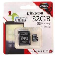 Kingston เมมโมรี่การ์ด Micro SD Card Class 10 80MB/s - 32GB With Adapter ของแท้