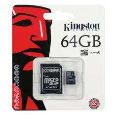 Kingston เมมโมรี่การ์ด Micro SDHC 64 GB Class 10  1pcs