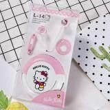 ราคา หูฟังแบบเกาหลีสอดหูลาย Kitty น่ารัก มุ้งมิ้ง มีไมค์ในตัว พร้อมกล่องใส่หูฟัง รองรับทั้ง Ios และ Android