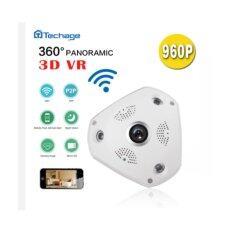 กล้อง IP VR 360 Panoramic Camera HD 960P Infared กล้องวงจรปิด 3D ใช้งานร่วมกับ VR ฺBox ได้