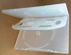 กล่องใส่แผ่น Dvd-R 4หน้าบาง สีขาวใส 10 กล่อง By Cd-Pela.