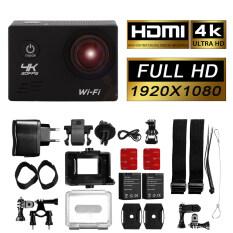 โปรโมชั่น กล้องกันน้ำ 12Mp 4K 1080P 2 Wifi Sports Action Camera สีเงิน Lf744 Xcsource
