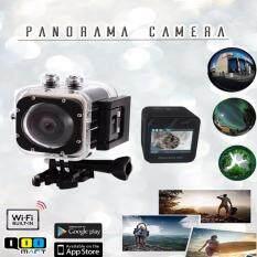 """กล้องมินิ 360  VR โหมด กล้องพาโนรามา 1.5 """"LCD  กันน้ำ กล้องไร้สาย (สีดำ)"""