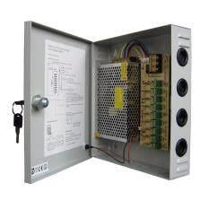 กล่องรวมไฟ 9 Ch. 12V 10A สำหรับกล้องวงจรปิด 4-6 จุด ไม่ต้องใช้ อแดปเตอร์ Switching Power Supply
