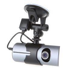 กล้องติดรถยนต์ Car HD DVR รุ่น R300 (2 กล้อง + GPS)