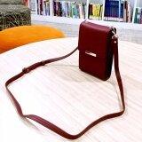ซื้อ Korea กระเป๋าสะพายใบเล็ก2ชั้น ใส่มือถือใส่บัตรใส่สตางค์ รุ่นMb026 2 สีแดง ถูก