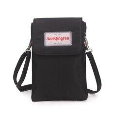 ส่วนลด Korea กระเป๋าสะพายใบเล็กผ้ากันน้ำใส่มือถือใส่สตางค์สองชั้น รุ่นMb025 2 สีดำ Korea ใน กรุงเทพมหานคร