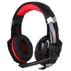 ราคา Kotion Each G9000 Usb 7 1 Surround Sound Version Game Gaming Headphone Computer Headset Earphone Headband With Microphone Led Light Red Kotion Each จีน
