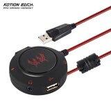 โปรโมชั่น Kotion Each S2 External Usb Sound Card Plug And Play Stereo Headset Adapter For Pc Laptops Ps4 Intl