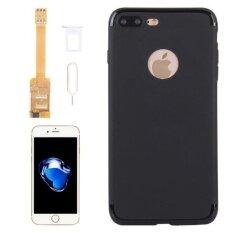 ราคา Kumishi For Iphone 7 Plus 2 In 1 Dual Sim Card Adapter Tpu Back Case Cover With Sim Card Tray Sim Card Pin Intl ที่สุด