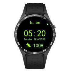 Kw88 Android 5 1 Os Smart Watch 1 39 Inch 400 400 Smartwatch Phone Support 3G Wifi Nano Sim Wcdma Heart Rate Black Intl ใน จีน