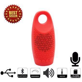 L8 Bluetooth Speaker TF/SD/FM ลำโพงไร้สายบลูทูธสีแดง