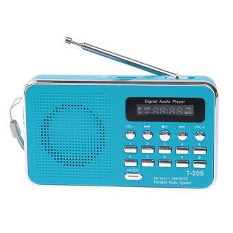 ลำโพงวิทยุ Mini speaker Mp3/USB/TF รุ่น T-205 (สีฟ้า)