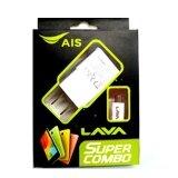 ซื้อ Lava Ais Lava หัวชาร์จ สาย Usb To Microusb Data Cable Original สีขาว ถูก
