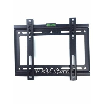 ชุดขาแขวนทีวี LCD LED ขนาด 14-42 นิ้ว TV Bracket แบบติดผนังฟิกซ์ (Black) By PBM Store