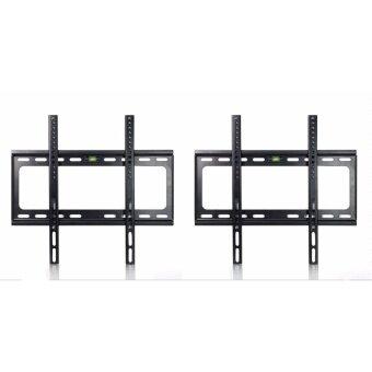 ชุดขาแขวนทีวี LCD LED เเพ็คคู่ 2 ชิ้น ขนาด 26-55 นิ้ว (TV Bracket แบบติดผนังฟิกซ์ (Black)
