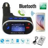 ซื้อ Lcd Wireless Bluetooth Car Kit Mp3 Player Fm Transmitter Modulator Remote Usb Sd Intl ถูก ใน จีน