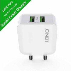 ซื้อ Ldnio Usb Charger 5V 2 4A Fast Charger Us Eu Travel Charger Usb Wall Mobile Phone Charger For Smartphone Ipad Tablet อดาปร์เตอร์ หัวชารจ์ ปลั๊กชาร์จ สีขาว Ldnio เป็นต้นฉบับ
