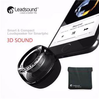 LEADSOUND ลำโพงพกพา 3D ลำโพง bluetooth เครื่องขยายเสียงแบบพกพา ( สีดำ )