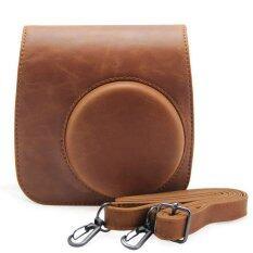 ซื้อ Leather Camera Case Bag Cover For Fuji Fujifilm Instax Mini8 Mini8S Single Shoulder Bag Brown ออนไลน์
