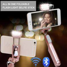 ซื้อ Led Flash Fill Light Extendable Bluetooth Selfie Stick Monopod For Iphone 6 6S 7Plus Samsung Android Intl ถูก