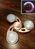 Led Ldc Hand Fidget Spinner Metal Brass Antistress Toys High Speed Finger Gyro For Autism And Adhd Increase Focus Youngsun Intl เป็นต้นฉบับ