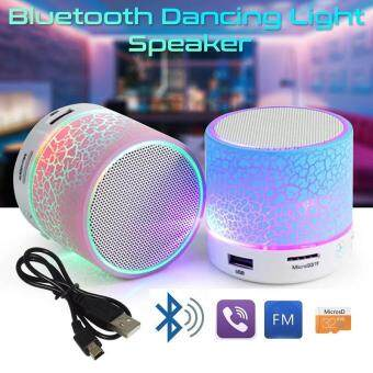 LED Portable Mini Bluetooth Speakers Wireless Hands Free Speaker With TF USB FM Mic Blutooth Music For Mobile Phone iPhone 6 7 s - intl