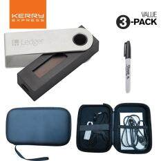 Ledger Nano S Crypto Hardware Wallet for Bitcoin and Altcoins BUNDLE With Shockproof Case and a Sharpie Pen for Recovery Sheet