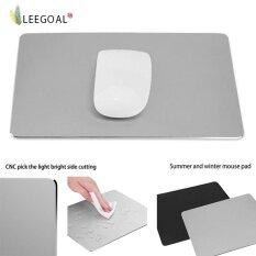 ราคา Leegoal แผ่นรองเมาส์อลูมิเนียมเมทัลทรงสี่เหลี่ยม ขนาด 220X180 มม แบบกันน้ำ มีแผ่นยางกันลื่น และพื้นผิวแข็ง สำหรับ Apple Mackbook สีเทา เงิน Leegoal ใหม่