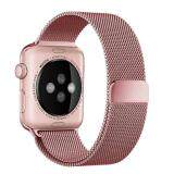 ซื้อ Leegoal Apple Watch Band Magnetic Clasp Mesh Loop Milanese Stainless Steel Replacement Strap For Apple Watch Sport Edition 42Mm Rose Gold Intl ถูก จีน