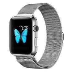 ขาย Leegoal สายนาฬิกาโลหะสแตนเลสแบบแม่เหล็ก สำหรับ Apple Watch Sport Edition ขนาด 42Mm สีเงิน Leegoal