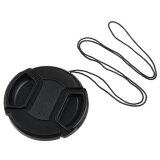 ส่วนลด สินค้า Leegoal Black 58Mm Plastic Snap On Lens Cap With Cable For Slr Cameras Intl