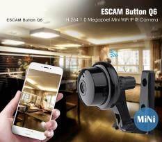 ขาย ซื้อ Leegoal Escam Button Q6 1Mp Hd 720P Mini Wifi Ip Camera Indoor Infrared Day Night Vision Onvif Support Motion Detection Max 128Gb Card Intl