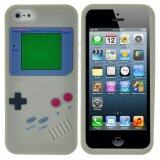 Leegoal Gray Nintendo Gameboy Pattern Silicone Soft Case Cover Fit For New Iphone 5 5S Intl ใน จีน