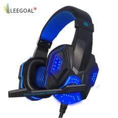 Leegoal หูฟัง Usb 3.5 มิลลิเมตรแบบสเตอริโอพร้อมหูฟังพร้อมไมโครโฟนสำหรับ Pc - Intl.