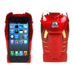 ขาย ซื้อ Leegoal Red 2 In 1 3D Avengers Iron Man Hard Back Cover Case For Apple Iphone 5 Intl จีน