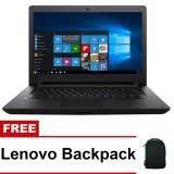 โปรโมชั่น Lenovo แล็ปท็อป รุ่น Ideapad 110 14Ibr 80T600Agta N3710 4Gb 500Gb ได้ Windows 10 ของแท้ มากับเครื่อง สี Black Lenovo ใหม่ล่าสุด