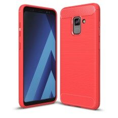 ราคา Lenuo Anti Knock Carbon Fiber Silicone Brushed Cell Phone Back Cover Tpu Soft Case For Samsung Galaxy A8 Plus A8 2018 A730 Intl ใหม่ล่าสุด