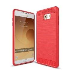 ราคา Lenuo คาร์บอนไฟเบอร์ซิลิโคน Brushed ป้องกัน เคาะกรณีโทรศัพท์มือถือกลับปกกรณีทีพียูสำหรับ Samsung Galaxy C9 นานาชาติ เป็นต้นฉบับ